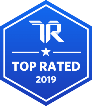 2019 TrustRadius top rated badge.