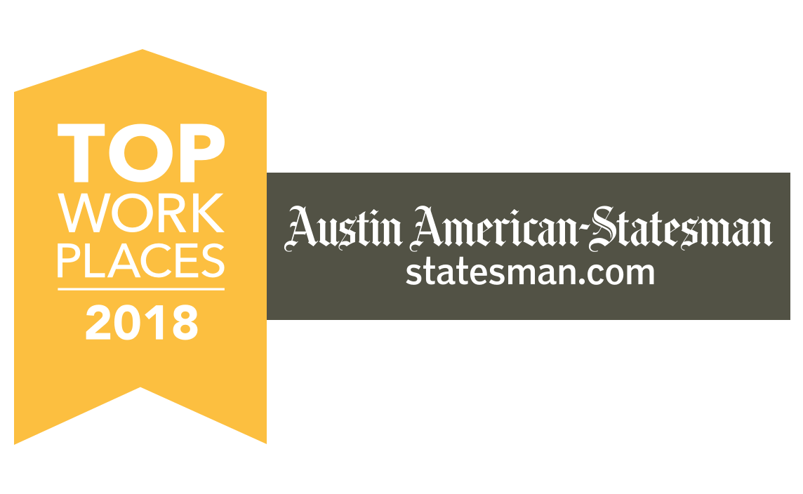 Austin Statesman award for top places to work 2018.