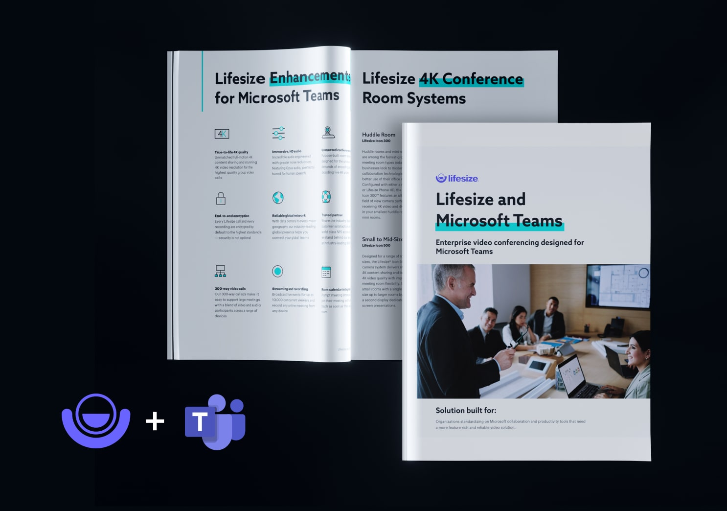 Lifesize + Microsoft Teams integration overview brochure cover