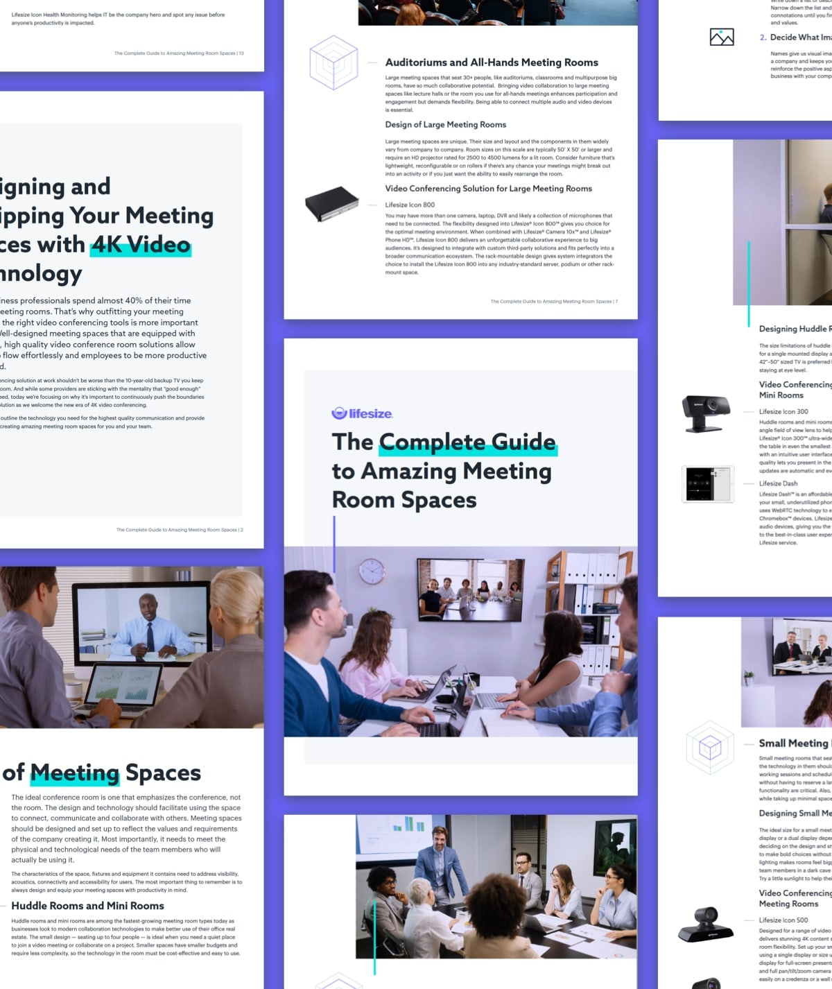 Snapshot of Lifesize's Amazing Meeting Room Spaces Guide.