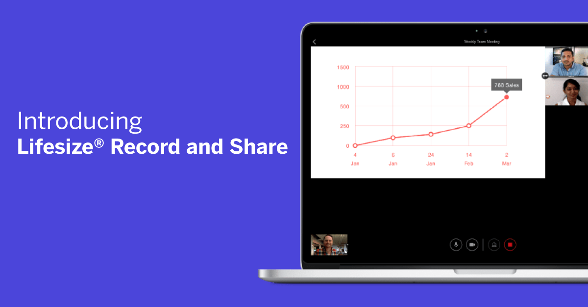 Lifesize record and share on button recording
