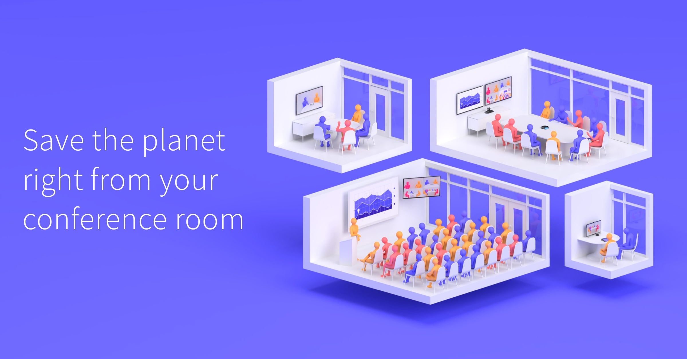 Collaborate with coworkers and meet with clients without the damaging environmental effects of travel. Learn how you can go green with video conferencing.