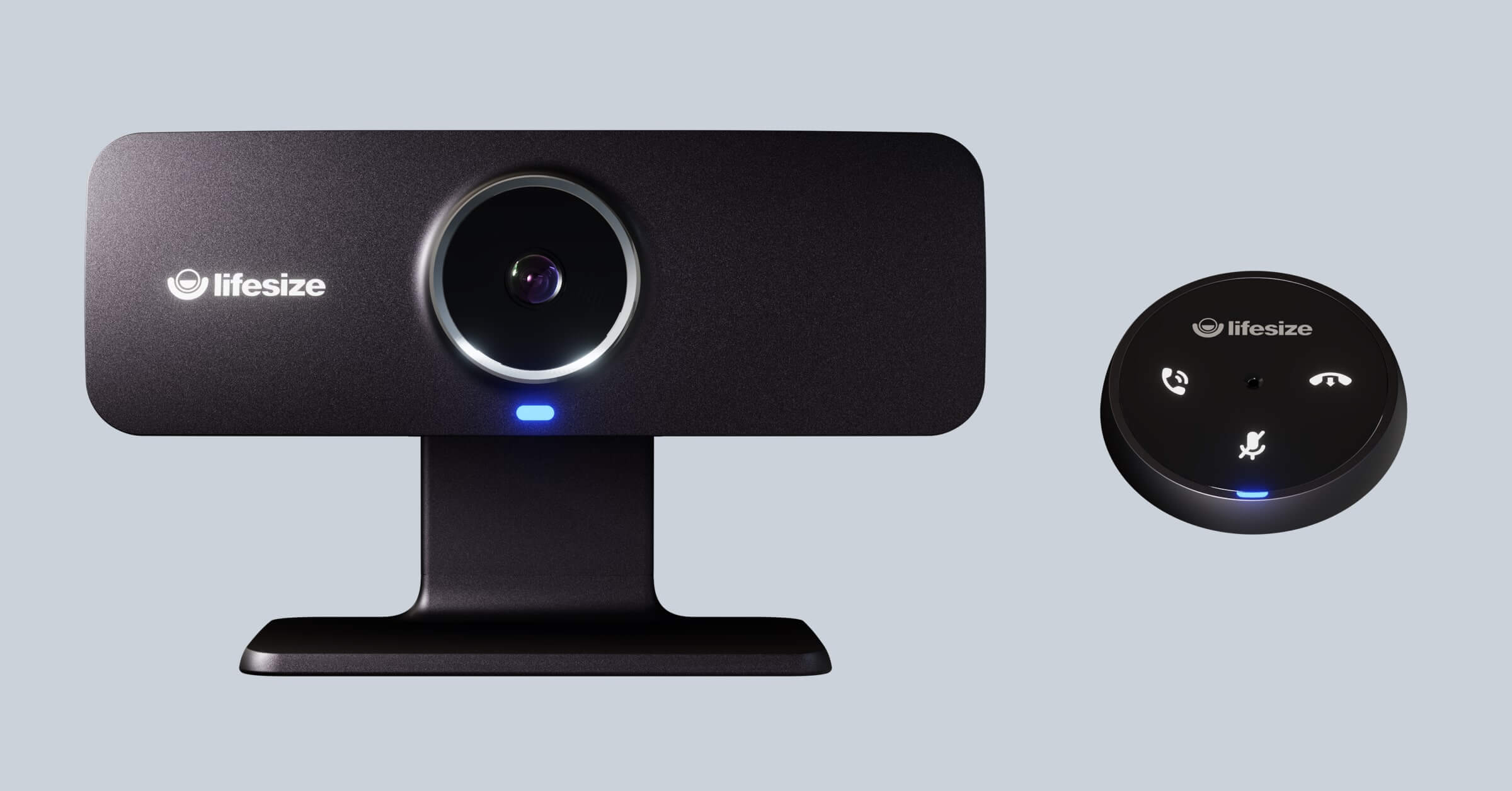 Lifesize Icon 300 all-in-one video conferencing camera system with the Lifesize Micpod