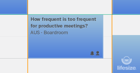 How frequent is too frequent for productive meetings?