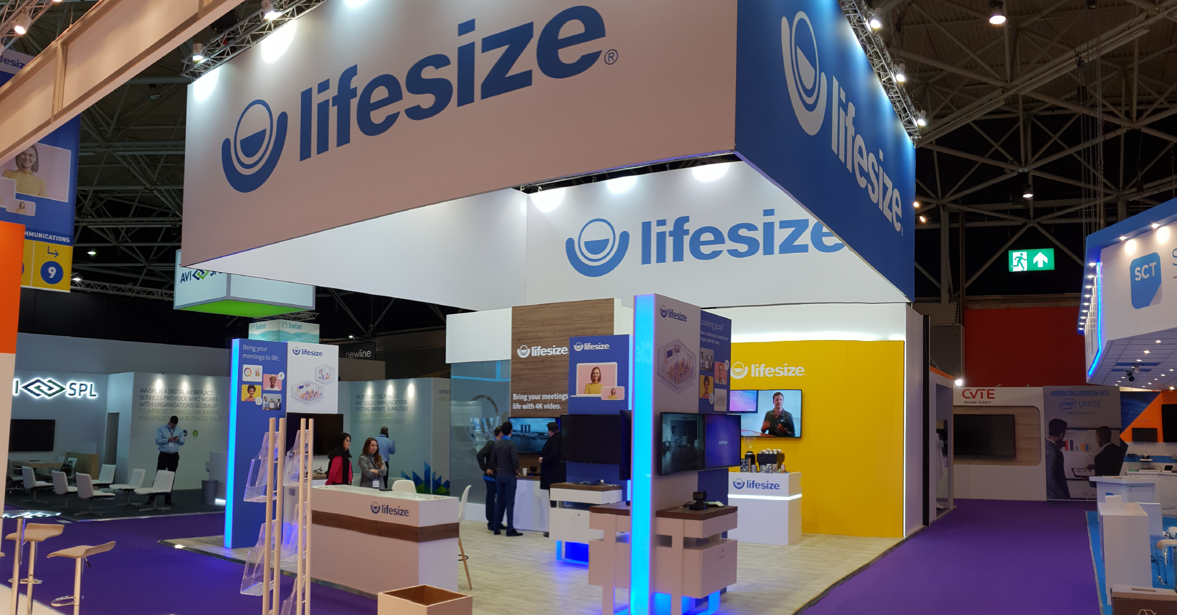 Lifesize booth at ISE 2019