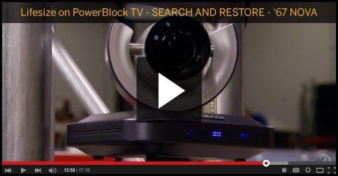 lifesize on powerblock TV