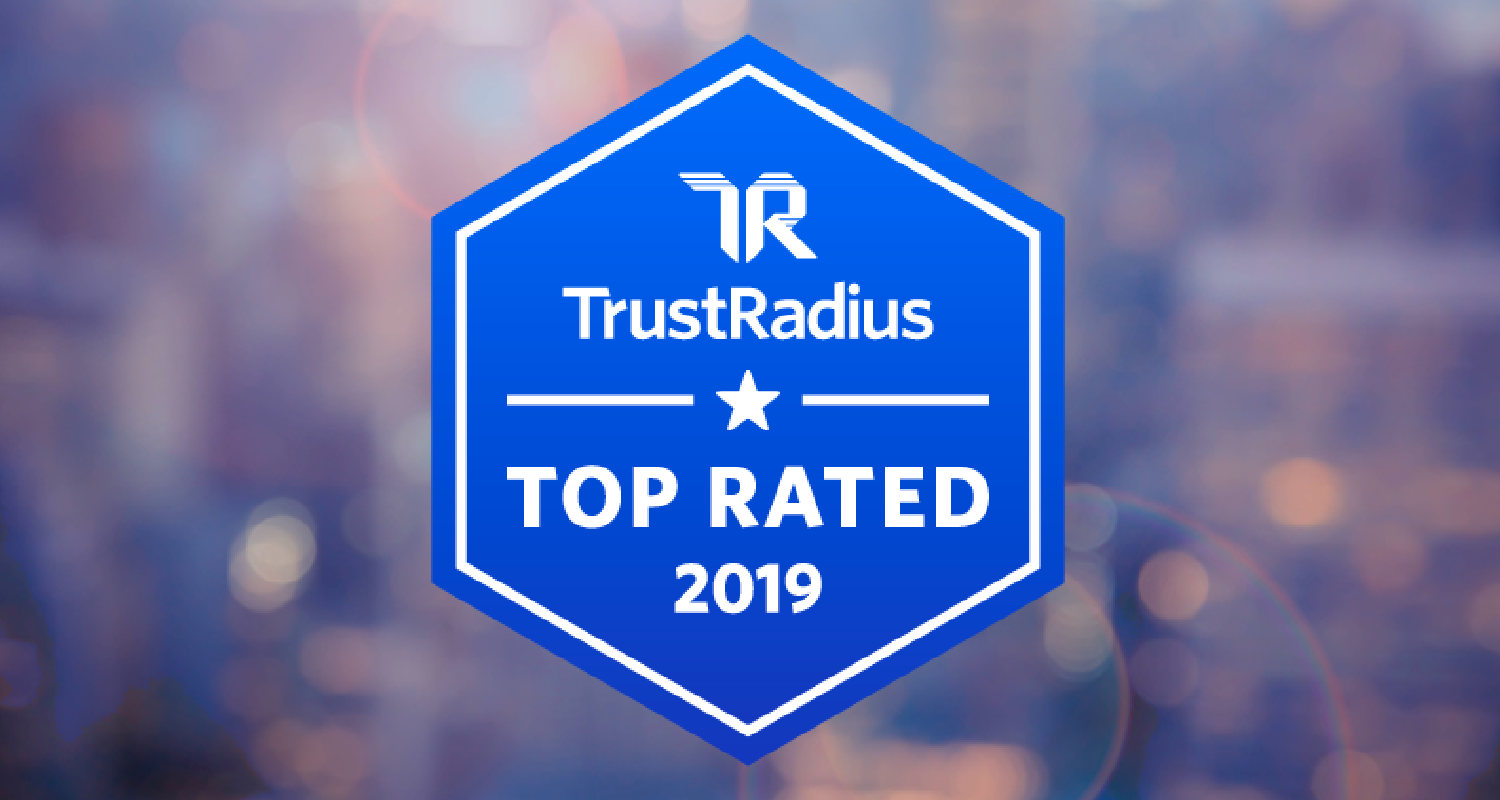 TrustRadius Top Rated 2019 banner logo