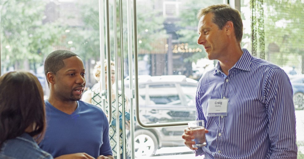 Lifesize CEO, Craig Malloy, in conversation at a Lifesize City Tour.
