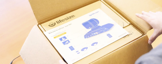 Unboxing a Lifesize Icon 700 4K conference room system for the first time