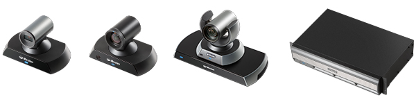 Lineup of Lifesize Icon video conferencing cameras
