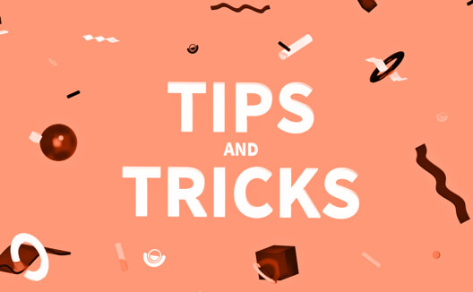 "Colorful graphic reading ""Tips and Tricks""."
