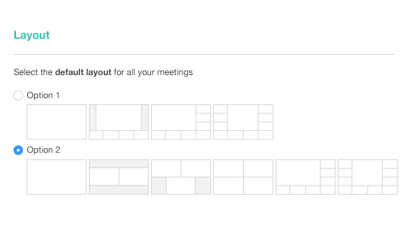 A screenshot of the Lifesize Cloud's interface. Share and schedule your conference easily with one person or many.