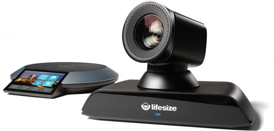 Lifesize Icon 700 video conferencing camera system with Lifesize Phone HD.