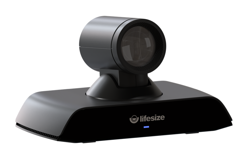 The Lifesize Icon 500 camera angled to the left.
