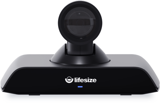 A Lifesize Icon 500 camera facing forward.