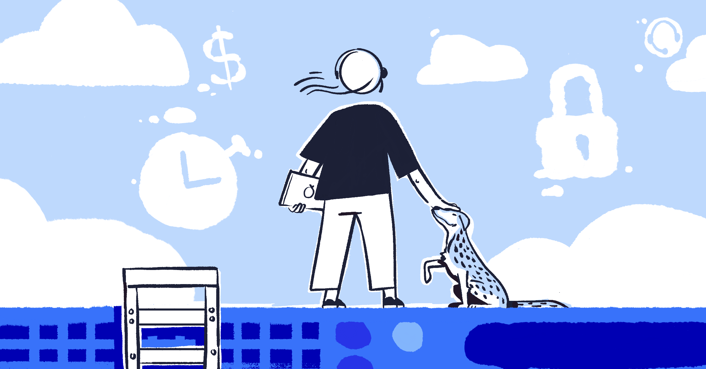 Illustration of person considering cloud migration concerns